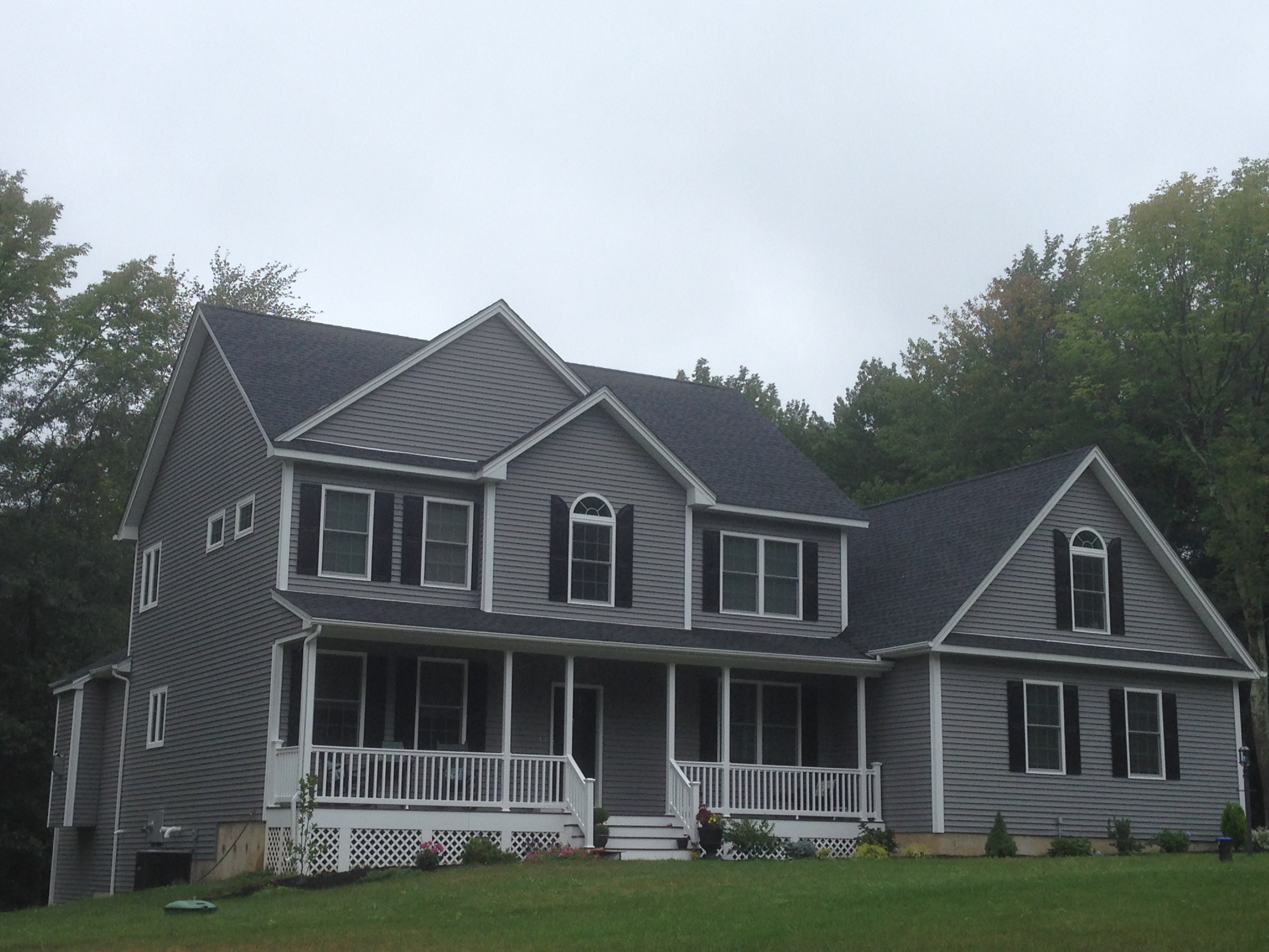 Dark Gray Sided Home