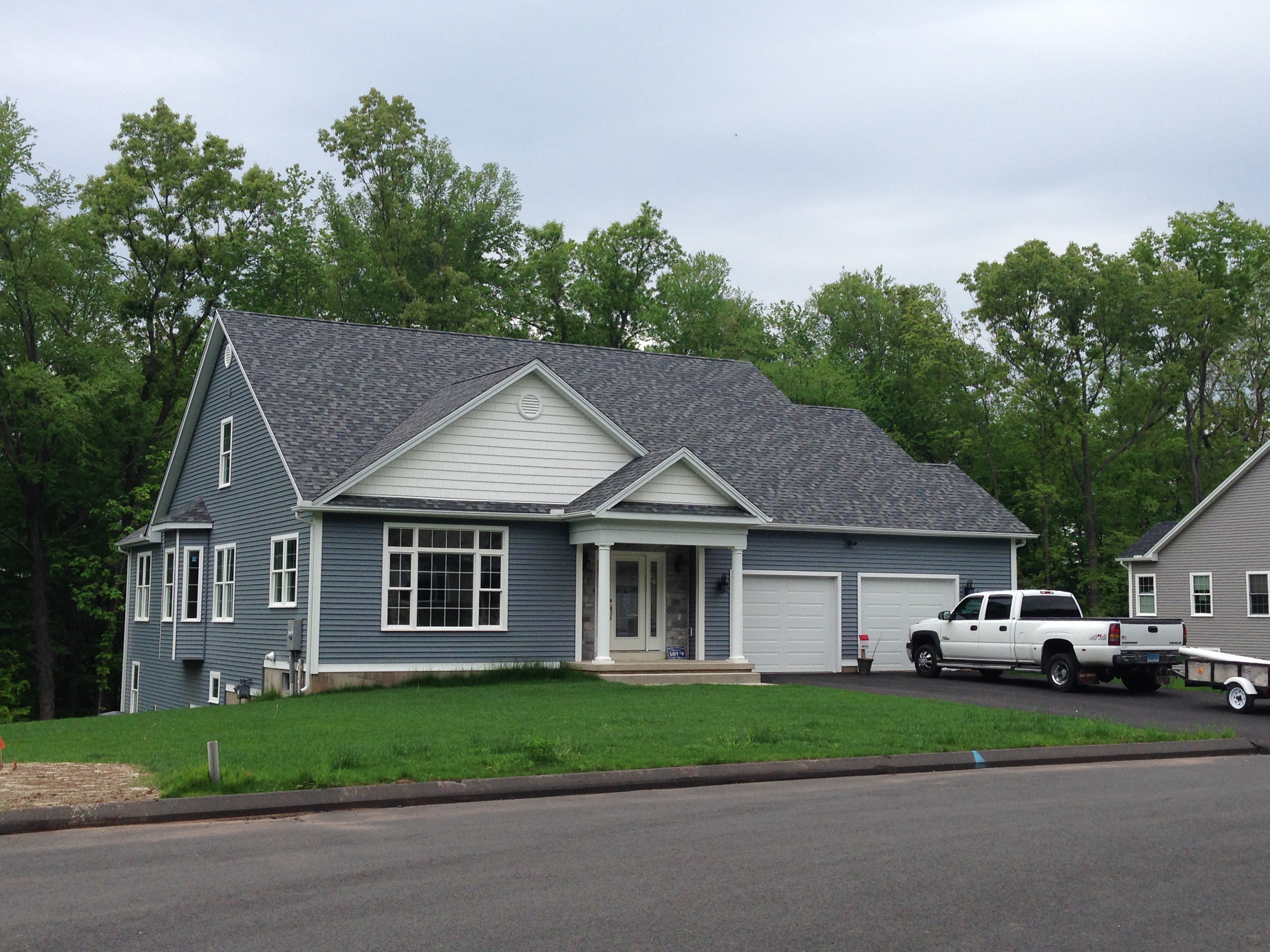 Blue New Construction Home